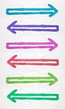 Painted arrows Royalty Free Stock Images