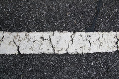 Painted Asphalt Line Royalty Free Stock Images