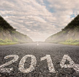 2014 painted on asphalt Royalty Free Stock Images