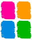 Painted background. Four colorful painted backgrounds collection Royalty Free Stock Photos