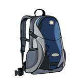 Painted by backpack gray - blue Stock Photos