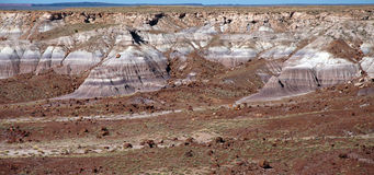 Painted badlands Royalty Free Stock Photography