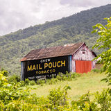 Painted barn ad Chew Mail Pouch Tobacco Stock Photography