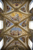 Painted baroque ceiling Stock Photo