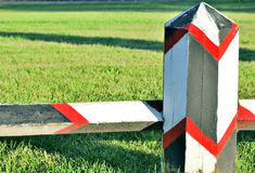 Painted barrier Royalty Free Stock Photos