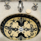Painted Bathroom Sink Royalty Free Stock Photo