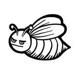 Painted bee. Cartoon vector illustration stock illustration