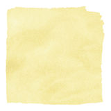 Painted beige watercolor square. Royalty Free Stock Photo