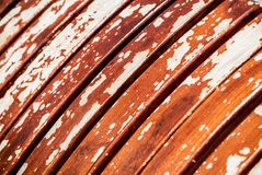 Painted bench. Close-up abstract photo of a painted bench royalty free stock photography