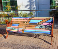 Painted Bench Royalty Free Stock Photography