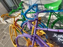 Painted Bicycles Royalty Free Stock Photo