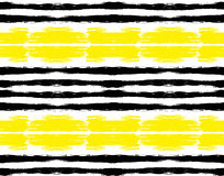 Painted Black Yellow Striped Pattern Royalty Free Stock Images