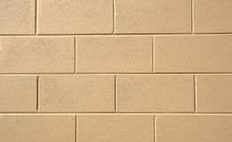 Painted Block Wall Royalty Free Stock Photo