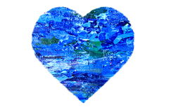Painted Blue Abstract Heart Royalty Free Stock Image
