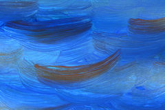 Painted blue background Royalty Free Stock Images