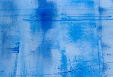 Painted blue background Royalty Free Stock Photography