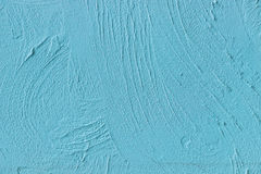 Painted Blue Cement Wall Royalty Free Stock Image