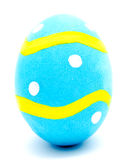 Painted blue easter egg isolated Stock Image