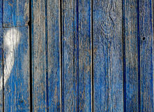 Painted blue old obsolete wood planks Stock Images