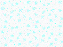 Painted blue snowflakes with dots Royalty Free Stock Photography