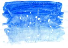 Painted Blue Texture Royalty Free Stock Photo