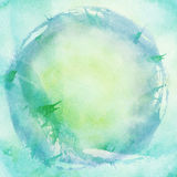 Painted blue watercolor background. Abstract painted blue watercolor background Royalty Free Stock Photo
