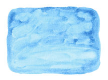 Painted blue watercolor background. Stock Photos