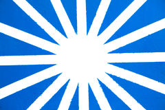 Painted Blue and White Star Royalty Free Stock Images