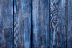 Painted blue wood Royalty Free Stock Photos