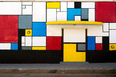 Painted Boarded up Storefront Royalty Free Stock Photography