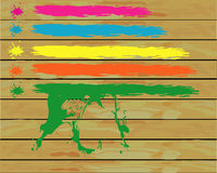 Painted boards Royalty Free Stock Image