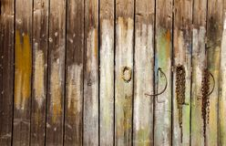 painted boards wall background Stock Photography
