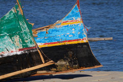 Painted boats Royalty Free Stock Images