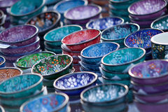 Painted bowls Stock Photo
