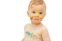 Painted boy Stock Image