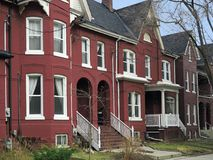 Victorian style row houses Stock Images