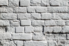 The painted brick wall Stock Image
