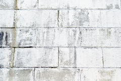 Painted Brick Wall. Large brick on a wall painted white Royalty Free Stock Images