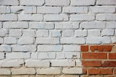 Painted brick wall background Royalty Free Stock Photography