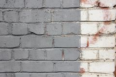 Painted brick wall background Stock Photography