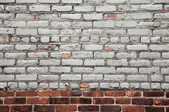 Painted brick wall background Royalty Free Stock Images
