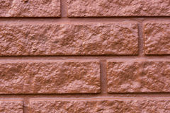 Painted Brick Wall Close Up Royalty Free Stock Photo
