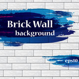 Painted brick wall with text Royalty Free Stock Photos
