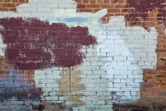 Painted brick wall texture Stock Photo