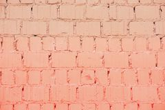 Painted brick wall, trendy color, urban background, space for text. Horizontal texture. Abstract modern backdrop stock images