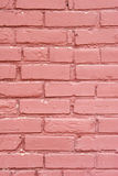 Painted brick wall-vertical Stock Images