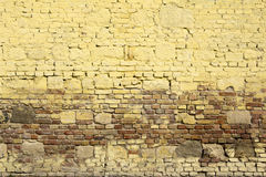 Painted brick wall with vintage look. Background of painted brick wall with vintage look Stock Image