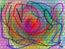Painted Bricks. Colorful Bricks Stock Photos