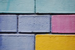 Painted bricks wall Royalty Free Stock Images