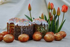 Easter lunch, still life royalty free stock image
